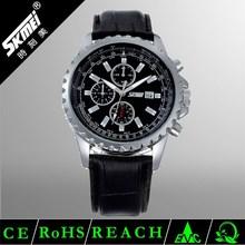 Wholesale Price Alloy Case Genuine Leather Male watch quartz brand logo