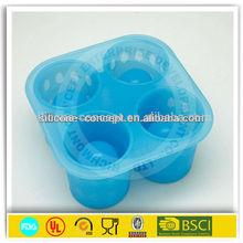 FDA LFGB cup shape slicone ice shot glass mold