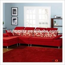 Living room red fiber yarn moquette in polyester, bikepet