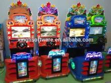 Niños paseo de la diversión de vídeo juego oscilación máquina de juego de los niños de la máquina que funciona con monedas máquina de juego de columpio