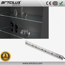 Plastic/Aluminium profile material Length cuttable rgb led display cabinet lights with remote control
