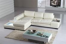 Small size classic italian style leather sofa