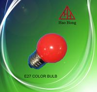 HAO HONG E27 COLOR bulb 1W led changing color lamp/ high quality Energy Saving Lighting Bulbs
