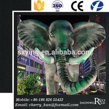 SXY Dinoworld Animal Theme Park Decoration High Simulation Fiberglass Elephants