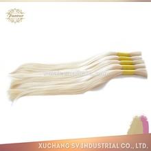 100% real wholesale blonde human hair extension hair remy blonde bulk hair