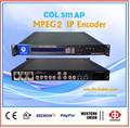 Mpeg2 codificador ip, analógico cvbs/s- e vídeo digital sd-sdi codificador de vídeo, iptv sd encoder canal único col5111ap