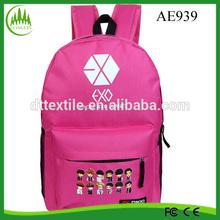 backpack, fashion school bag, mesh pocket