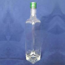 750ml square metal aluminum screw top glass wine bottles
