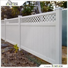 6x8 ft Lattice Top PVC Privacy Fence