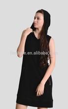 The merino wool sleeveless dress of women