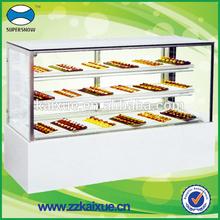 Luxury vertical display cake refrigerator for bakery