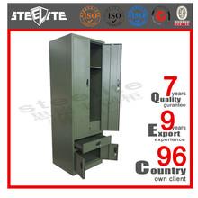 Stainless Steel 2 Door Wardrobe Army Metal Locker