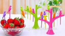 fruit fork set plastic fruit fork