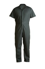 short sleeve working coverall with chest zipper safety workwear uniform