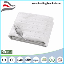 60W 100% Polyester Cheap Soft Touch Warm Heated Blanket