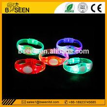 Sound Activated Light up led bracelet with logo