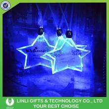 Star Shape Lighted LED Necklace, Glow LED Necklace, Logo LED Necklace