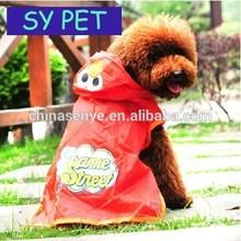Hot sale fashion Pet raincoat, Dog raincoat, puppy waterproof rain jacket