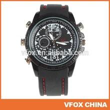 8GB SC 1280x960 Watch Camera Hidden Watch Camera Waterproof with Genuine leather wristband Mini DVR 1280*960
