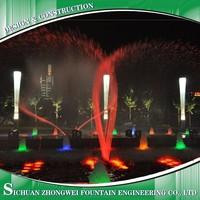 water fountain + led lighting+music+installation