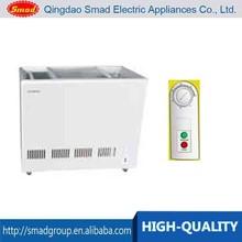 High Quality sliding glass door chest deep freezer/display freezer