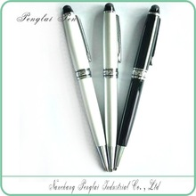 2015 high quality white metal pen with touch