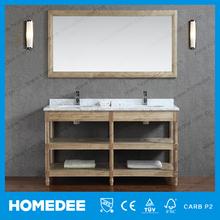 Double sink marble vanity tops hotel bath room vanity