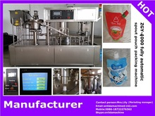 2015 fully automatic 4 nozzle spout juice bag packing machine