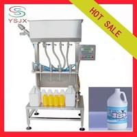 4 heads semi automatic liquid bleach filling machine