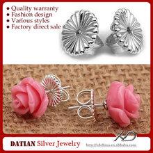 XD Fashion earring finding stopper 925 silver earring back buts silver ear stud stoppers