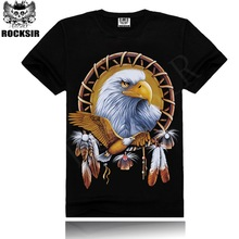 YIWU 2015 OEM ROCKSIR eagle animal printed 3d t-shirt manufacturer lahore pakistan dye sublimation t-shirt printing