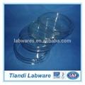 Claro laboratorio Petri Dishes