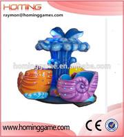 Newest Walking the sea carousel/Amusementang ocean conch design theme park carousel merry go round amusement kids park equipment