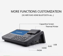 New low cost 3G nfc mobile pos terminal with buiilt in printer smart card reader NFC reader wifi ethernet port SIM slot