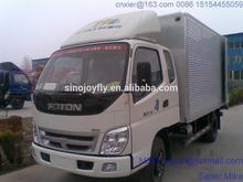 rear open trailer truck medium cargo truck