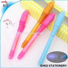Promotionnel lumière UV Invisible stylo détecteur d'argent stylo