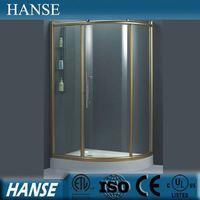 HS-SR829 round glass shower cabin/ complete shower cabinet/ corner standing shower