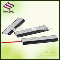 Ruler laser pointer with flashlight