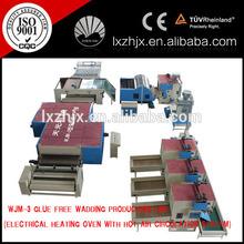 WJM series polyester fiber wadding machine, wadding making plant from polyester fiber