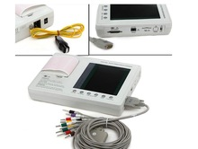 CE approved 7 inch 3 channel color Screen ECG machine Electrocardiograph EKG-903A3