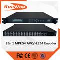 4/8 em 1 dvb-t encoder para sd ou hd mpeg2 ou avc mpeg4/h. 264