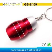 GS-8409 aluminum 3 led hot sell high light flashlight keychain promotional light