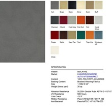High quality BISCAYNE embossing synthetic pu and pvc leather for Luxurious Marine, Auto Aftermarket