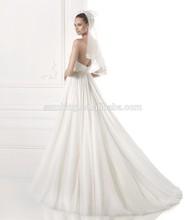 WDP 1714 A Line Elegant Chiffon Evening Dresses Long Wholesale Clothing Bridal Gown