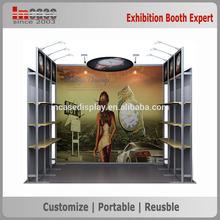 Custom exhibition booth display , aluminum modular trade show backdrop
