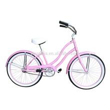 beautiful color beach cruiser and hot selling ladys bike HK