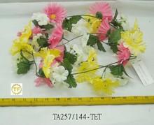2015 6 pés gerbera/hibiscus/gerânio guirlanda(7) hibiscus hibiscus colares de flores flores flores flores hibiscus hibiscus flores um