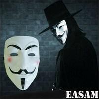 Wholesale PVC Guy Fawkes Mask V for Vendetta Mask