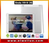 9.7'' IPS 2048*1536 ONDA V919 3G AIR dual boot tablet Intel Z3736F Quad Core 2GB/64GB 3G WCDMA GPS OTG Bluetooth 2MP+5MP
