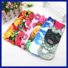 2015 brand new products 3D DIY Digital Print Socks Christmas Decorative Socks